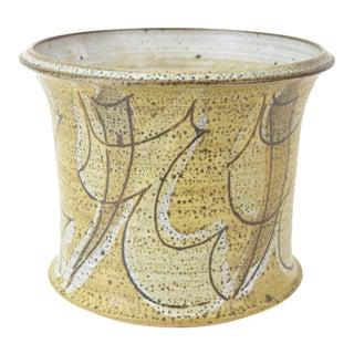 Vintage Alan Vigland Mid Century Modern Studio Pottery Vase For Sale