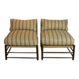 Image of Antique French Lounge Chairs - a Pair For Sale