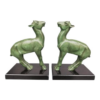Art Déco Bookends by French Animal Sculptor Bousquet - a Pair For Sale
