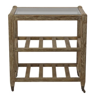 Brussels Red Oak Rack / Side Table on Wheels For Sale