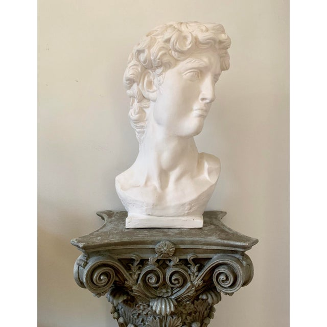 Vintage plaster bust of David circa 1990s. Reasonable offer will be considered.