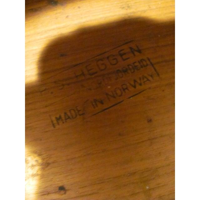 Wood Vintage P. S. Heggen Teak Waste Basket Designed by Einer Barnes For Sale - Image 7 of 9