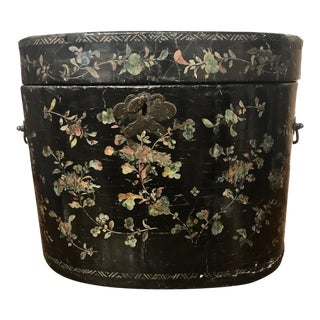 Chinese Coromandel Lacquer Hot Box, 19th Century For Sale