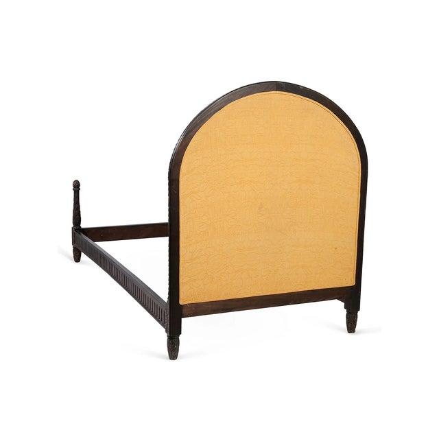 Belgian Wooden Belgian Bedframe With Yellow Headboard For Sale - Image 3 of 12