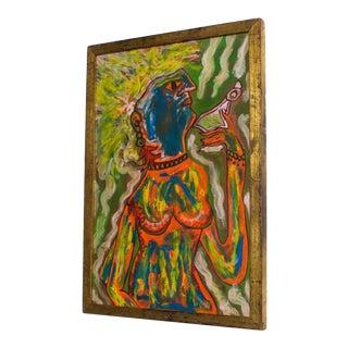 Tribal Still Life Print Portrait After Jean-Michel Basquiat, Mexico For Sale