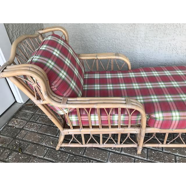Vintage Wicker & Rattan Chaise - Image 6 of 7