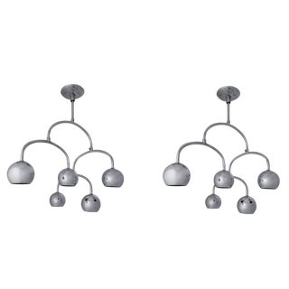 Chrome Ceiling Light - a Pair For Sale