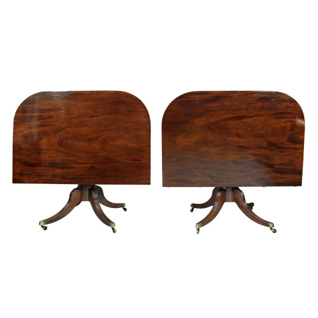 Regency Mahogany Three Pedestal Dining Table For Sale - Image 12 of 13