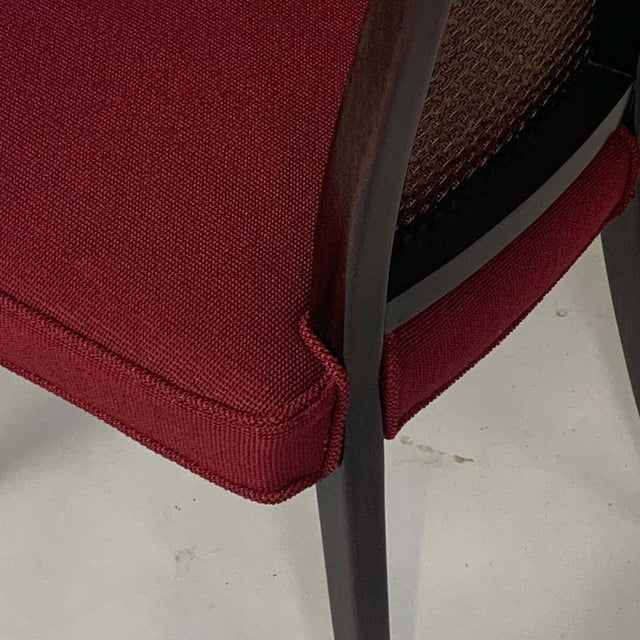 Mid 20th Century Set of 4 Harvey Probber Cane and Ebonized Mahogany Model 1055 Dining Chairs For Sale - Image 5 of 9