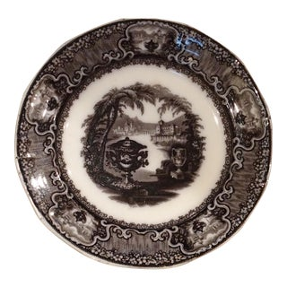 Mid 19th Century Podmore Walker & Wedgewood Transferware Plate For Sale