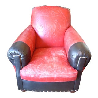 Ralph Lauren Red & Black Cowboy Chair
