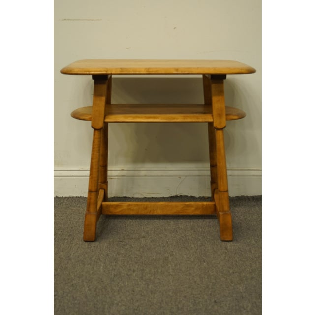 """Mid Century Modern Solid Hard Rock Maple 25x15"""" End Table For Sale In Kansas City - Image 6 of 10"""
