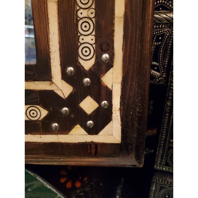 Moroccan Large Moroccan Rectangular Resin Inlay Mirror For Sale - Image 3 of 7