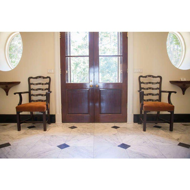 Pair of Mahogany Ladder Back Chairs - Image 3 of 8