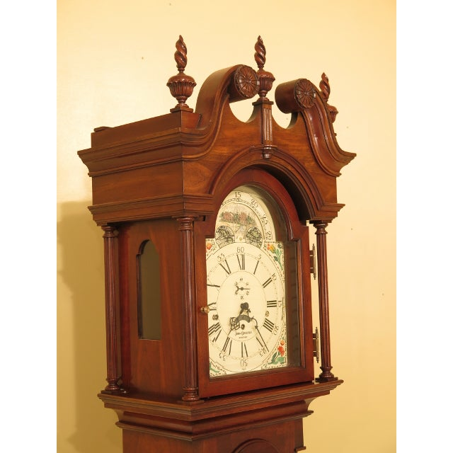 Sligh-Lowry Furniture Co. Sligh John Goddard Cherry Grandfather Clock For Sale - Image 4 of 13