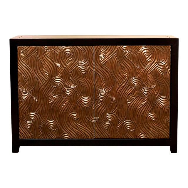 Dragon Swirl Bar Cabinet - Antique Copper For Sale