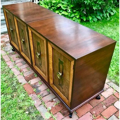 Fantastic Modular Chest/Credenza set designed by Renzo Rutilli for Johnson Furniture Co., 1950's Vintage. Three modular...