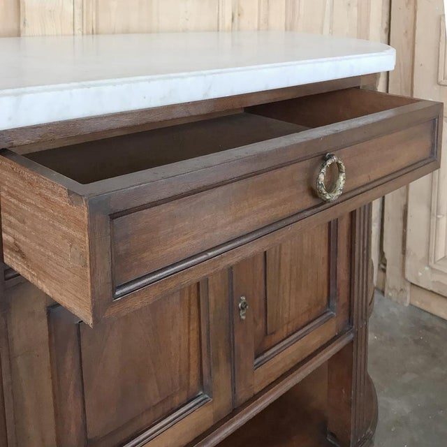 Metal 19th Century French Directoire Mahogany Marble Top Buffet For Sale - Image 7 of 13