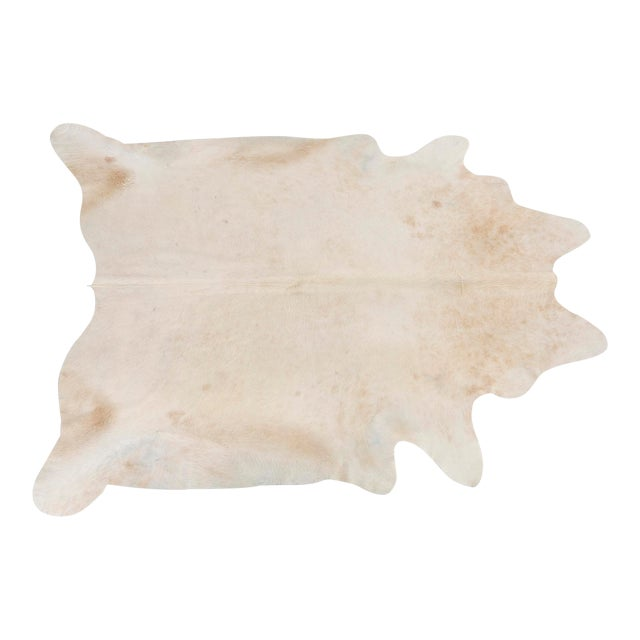 Light Champagne Genuine Brazilian Cowhide Rug For Sale