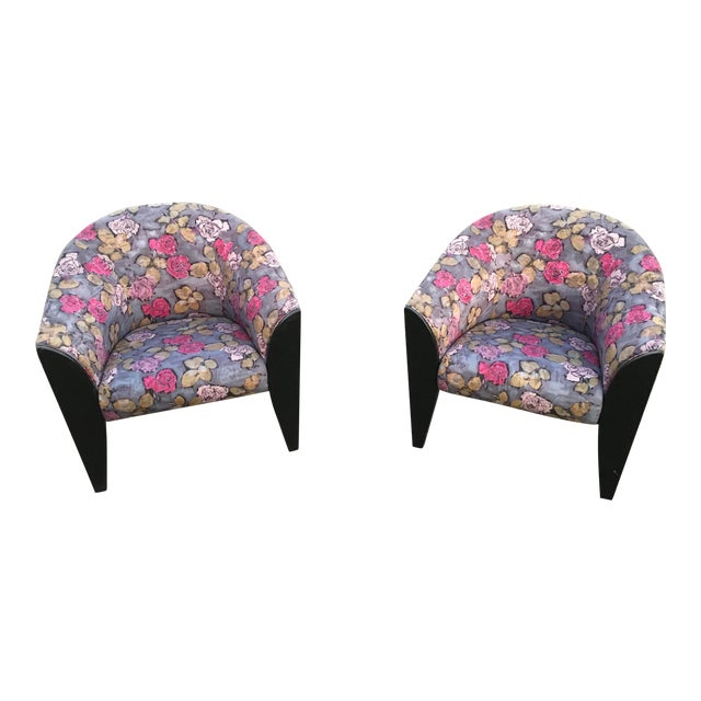 1990s Post Modern Club Chairs - a Pair For Sale