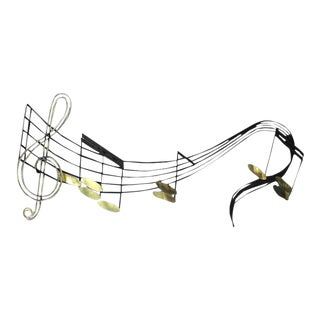 Vintage Mid Century Curtis Jere Music Notes Sculpture For Sale