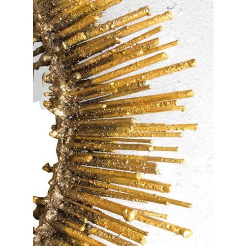 The Urchin Wall Mirror is hand made by artisan James Bearden. The Urchin Mirror is shown with in a hand applied 24K gold...