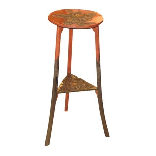 Circa 1900 Japanese Lacquered Stand