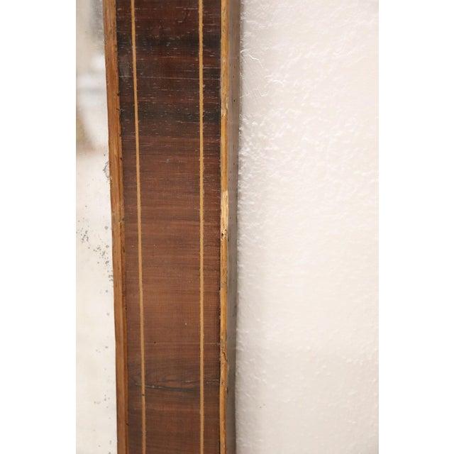 19th Century Italian Charles X Inlay Walnut Wall Mirror For Sale - Image 4 of 9