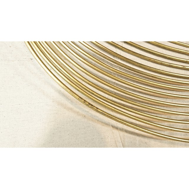 Curtis Jere Vintage Curtis Jere Gold Wave Wall Sculpture For Sale - Image 4 of 5