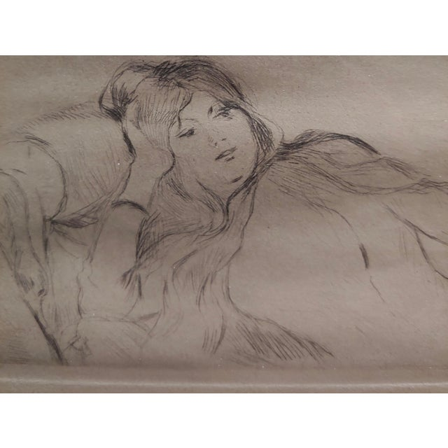 1900 - 1909 Berthe Morisot -Reclining Woman-Etching C1880s For Sale - Image 5 of 8