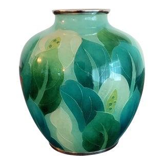 Japanese Plique-à-Jour Vase by Ando Jubei Company For Sale