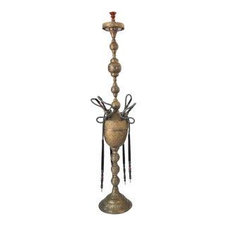 Huge Massive Middle Eastern Arabian Brass Hookah For Sale