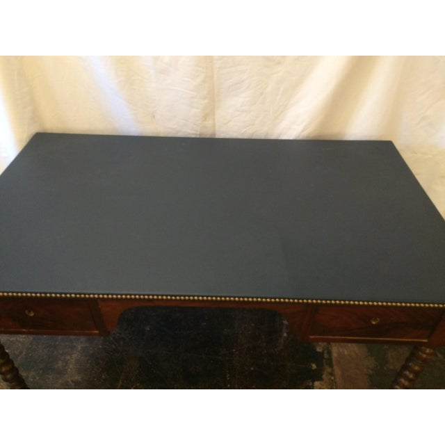 Louis Philippe Leather Top Writing Desk For Sale - Image 4 of 9