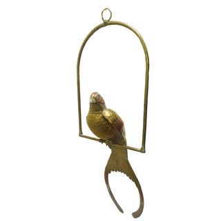 Signed Sergio Bustamante Large Hanging Metal Bird For Sale