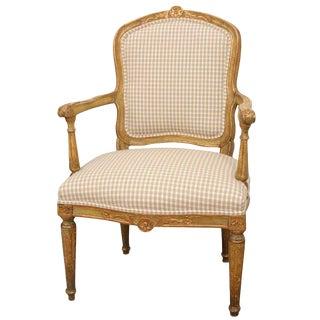 Italian Louis XVI Fauteuil For Sale