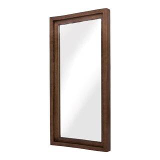 Glam Wall Mirror In Walnut For Sale