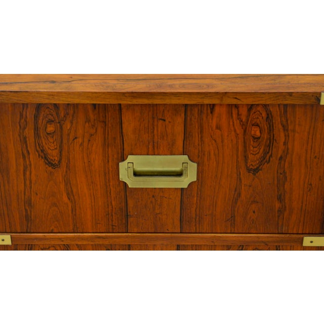 Walnut Baker Chests of Drawers - a Pair For Sale - Image 10 of 12