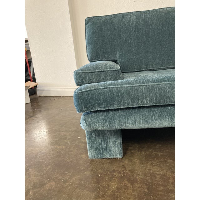 1980s 1980s Vintage Blue Sofa For Sale - Image 5 of 6