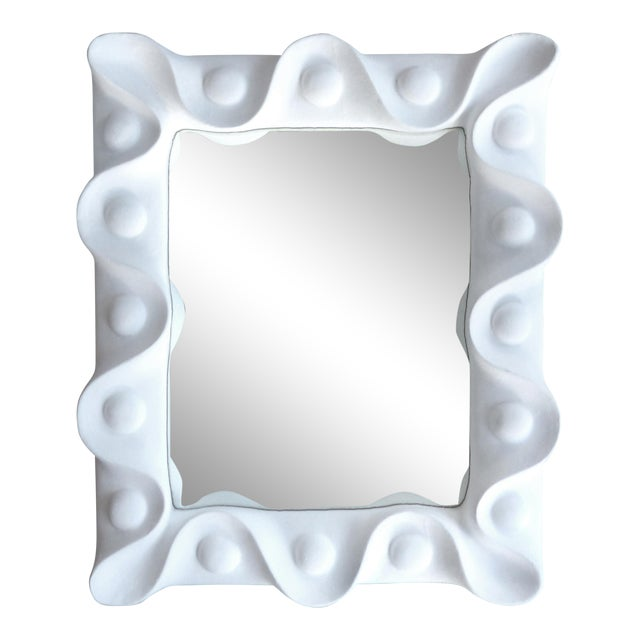 1940's Vintage Plaster Mirror in the Manner of Serge Roche For Sale