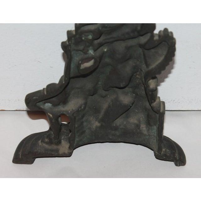 """Late 19th Century Bronze """"Punch"""" Door Stop - Image 7 of 7"""