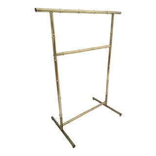 Vintage Faux Bamboo Brass Towel Bar