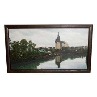 "Oil on Canvas by Randy Dudley Titled ""4th St. Basin - Gowanus Canal"" For Sale"