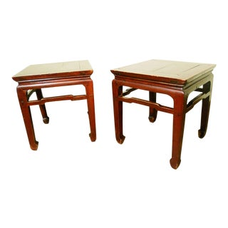 1800s Antique Chinese Ming Meditation Benches- A Pair For Sale