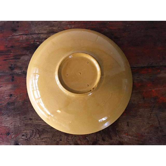 Vintage Pottery Large Shallow Fruit Bowl - Image 7 of 10