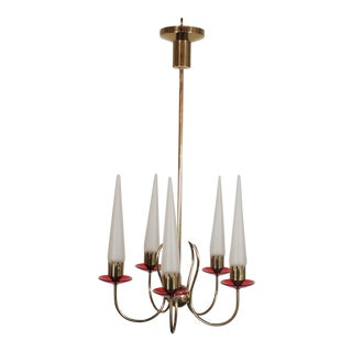 Angelo Lelii for Arredoluce Chandelier For Sale