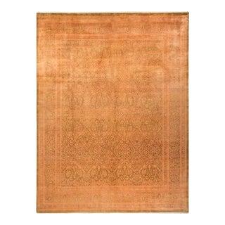 "Mogul, One-Of-A-Kind Hand-Knotted Area Rug - Orange, 10' 2"" X 13' 8"" For Sale"
