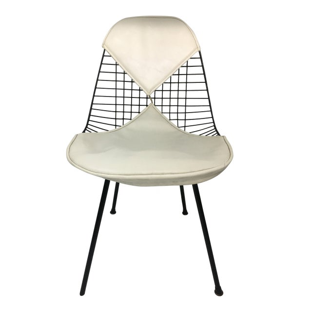 Vintage White on Black D K R Bikini Chair by Charles Eames for Herman Miller For Sale