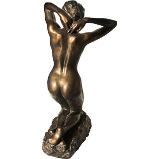 "1990 Bronze ""Faunesse à Genoux"" Sculpture by Sergey Eylanbekov After Auguste Rodin For Sale"