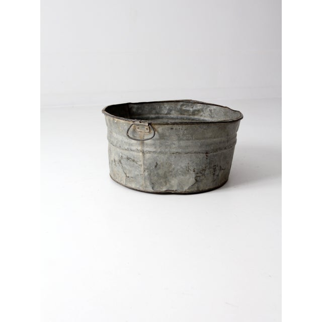 Vintage Galvanized Tub Basin - Image 4 of 8