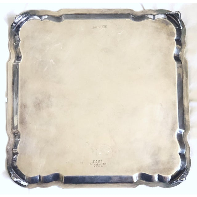 Contemporary English Footed Salver/Waiter/Card Tray For Sale - Image 3 of 6